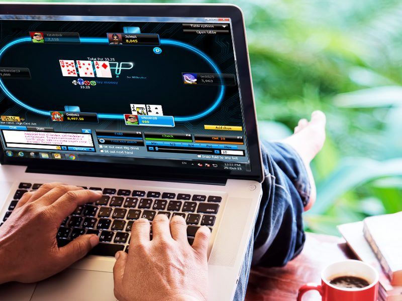 Playing on Online Casino Games.